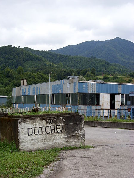 UNPROFOR Dutchbat headquarters in Potočari